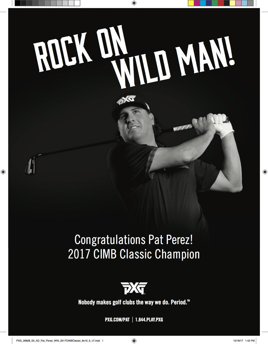 A big PXG congrats to PXG Rock Star Pat Perez!  We are all so very proud of you!