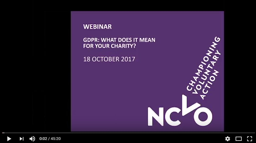 In case you missed our #GDPR webinar last week, here&#39;s the recording plus other data protection support:  https://www. ncvo.org.uk/practical-supp ort/information/data-protection &nbsp; … <br>http://pic.twitter.com/ZVTDRl6bdb