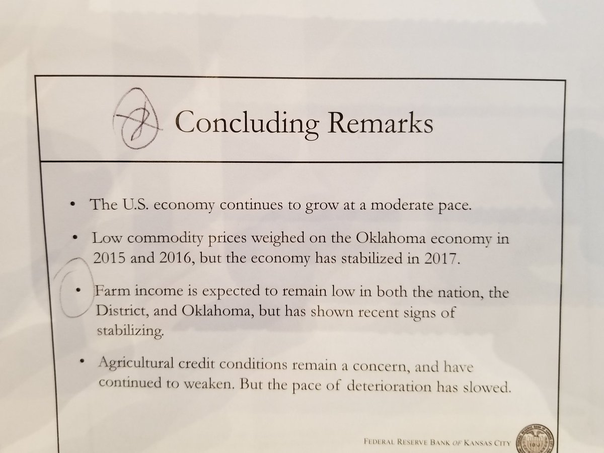 Concluding facts from federal economist...