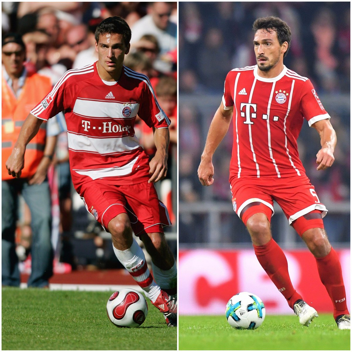 Tens years apart, not much has changed 😜 @matshummels #MiaSanMia #Flas...