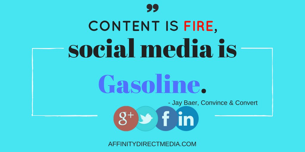 Content is fire, social media is gasoline.#JayBaer #Convince&amp;Convert #Socialmedia #socialmediastrategy #Socialmediamanagement #SMM<br>http://pic.twitter.com/kpUBWg2G4H