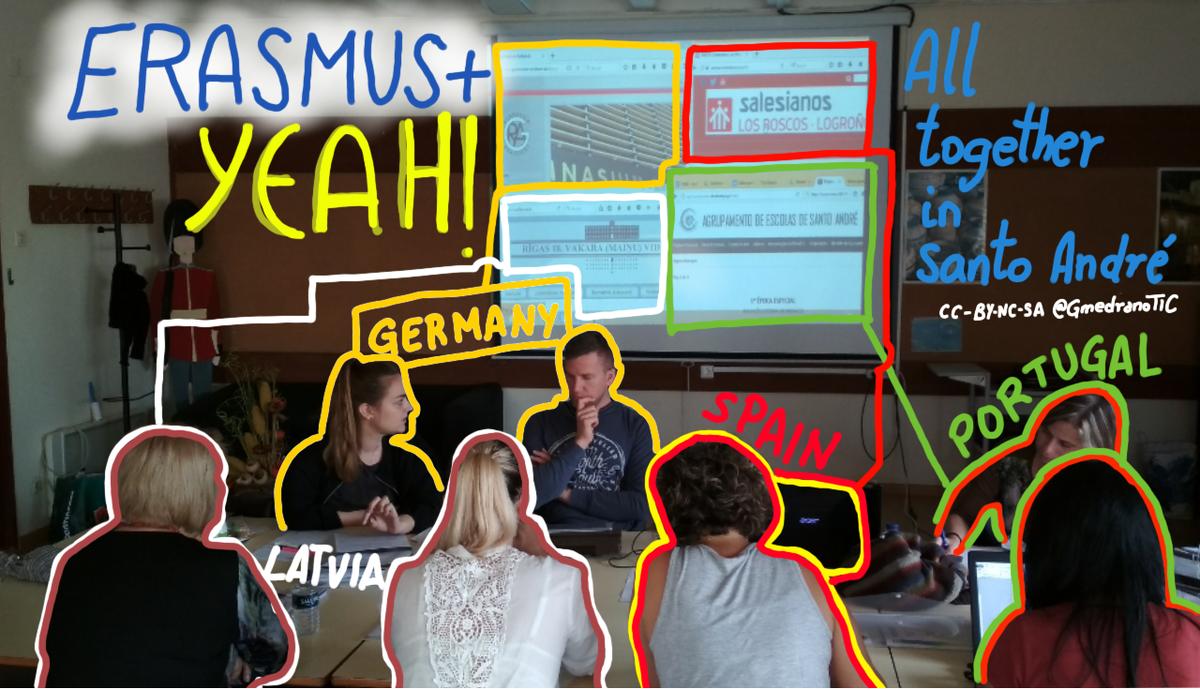 Productive session in #Portugal at #ErasmusYEAH preparing  #eTwinning  https:// twinspace.etwinning.net/37624  &nbsp;   #Blog #TwinSpace #LTTA @sepiegob #ErasmusPlus <br>http://pic.twitter.com/33gAvlPhBx