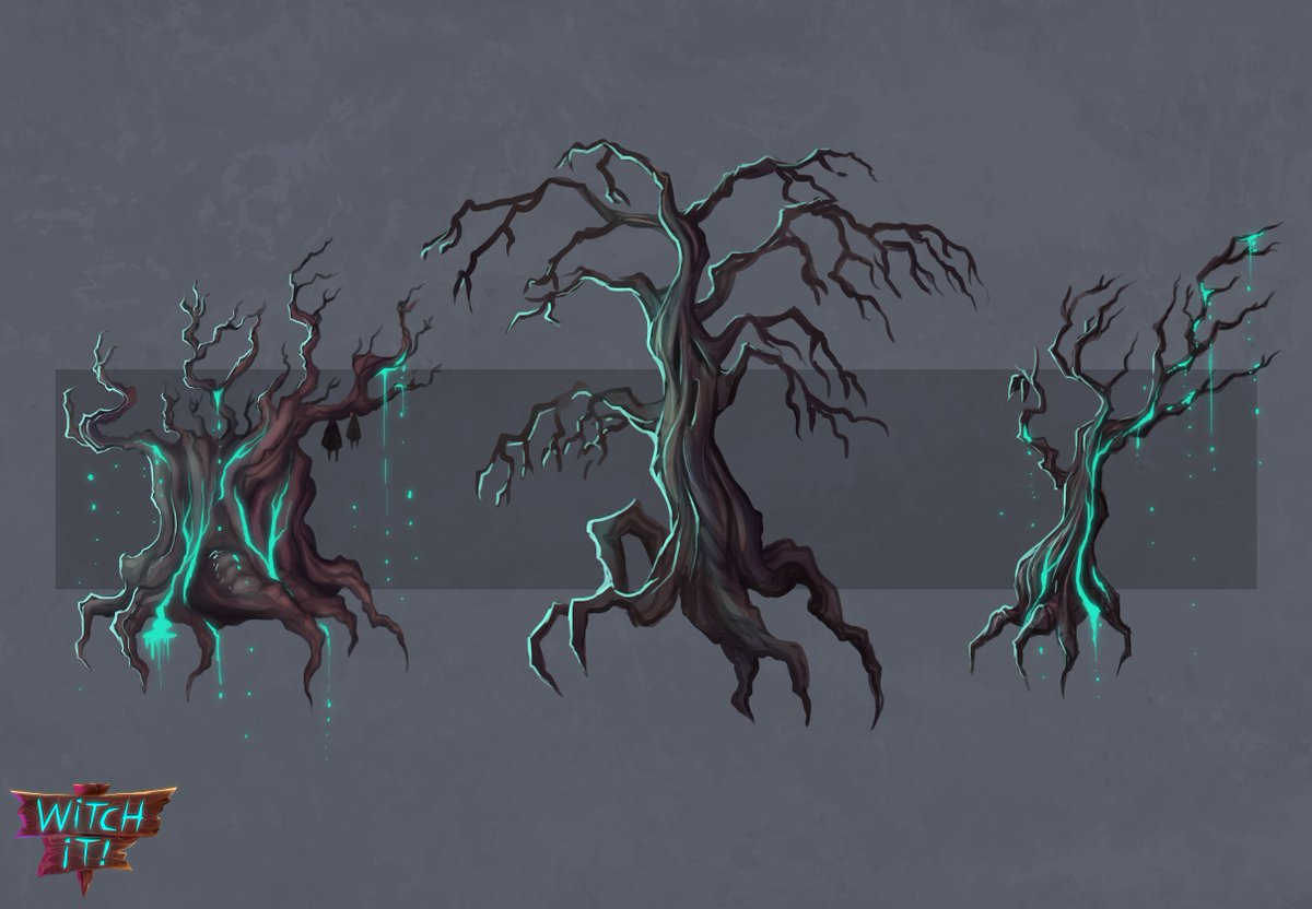 I love trees!  #witchit #conceptart #art #gameart #gamedev #indiegame #indiedev #creepy #ghostly #trees<br>http://pic.twitter.com/0w0MN3jpoL