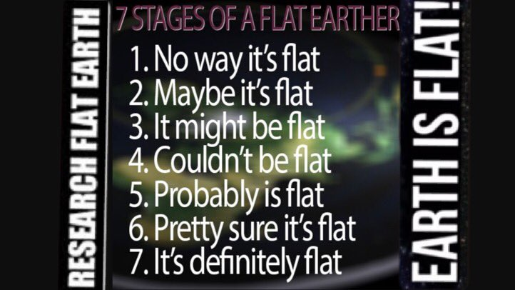 The 7 Stages of Becomin a #FlatEarther , #Research #FlatEarth . #FEoffensive #GLOBEXIT #FLATPOWER #FE #FAF #FlatFFS<br>http://pic.twitter.com/1QgNHX0wNC