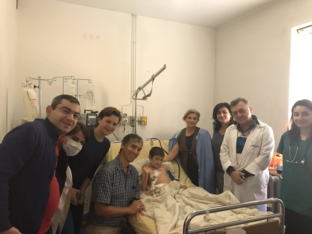 Transplant recipient and his Mum ( his donor) on day 3 with the team in Yerevan. Hopefully nearly 4 years on dialysis over #TTS <br>http://pic.twitter.com/P6ZP02G8hm