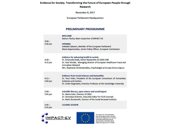 Boosting #socialimpact of #SSH at #evidence4society Conference. Nov 8  http:// impact-ev.eu/conference/  &nbsp;    @EnRRICH_EU  @SocialValueLab @E_Integrity_EN<br>http://pic.twitter.com/ldg0wXvsBI