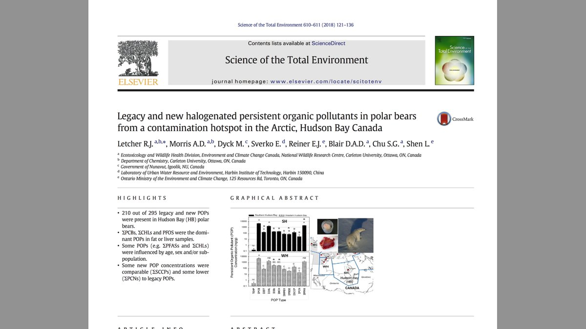 #polarbear paper reports 210 pollutants in Hudson Bay: likely only part of total pollution. Add climate change &amp; expect problems. <br>http://pic.twitter.com/R3poAbpCYJ