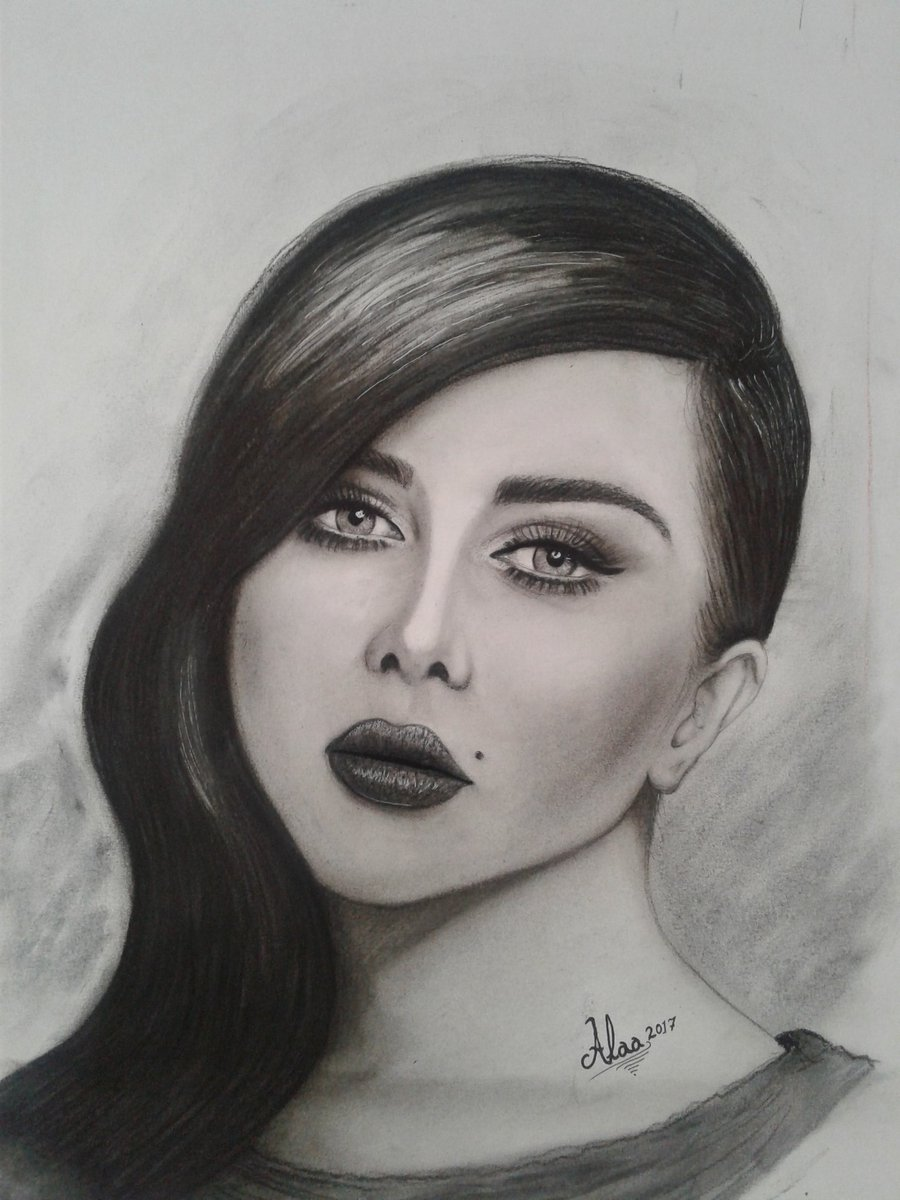 Portraits Drawing Course By Trainer Ahmed Mostafa كورس رسم