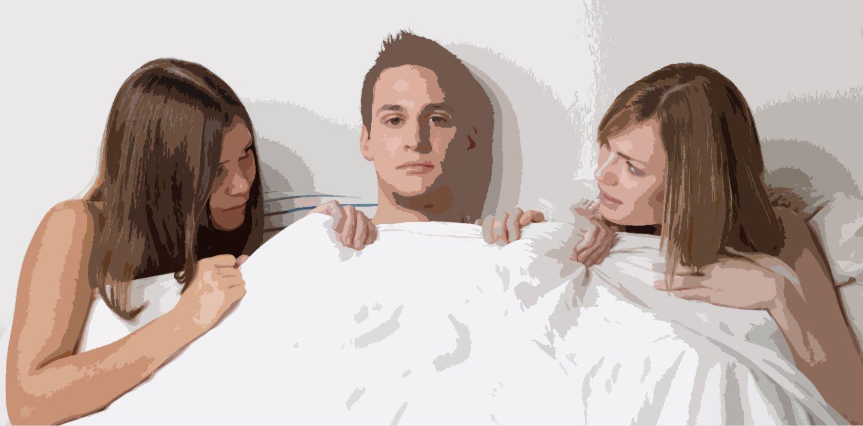 Две девушки один парень секс видео русское — pic 2