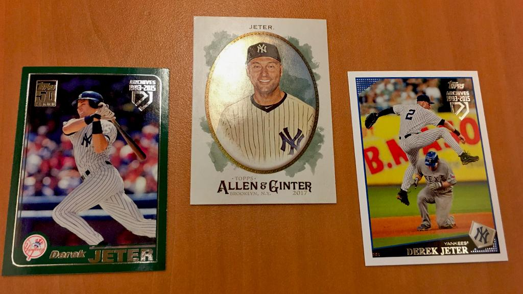 This Yankee knows a thing or two about winning rings.  RT for a chance to win this 3-pack of Derek Jeter cards. #MLBCards