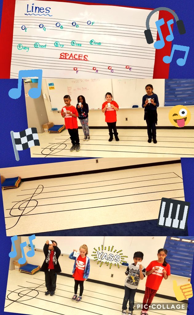 Race to the #staff! Learning the #notes on the #lines and #spaces. #MusicEducation #CDEFGABC #ReadingMusic @MadocDrive<br>http://pic.twitter.com/JEv8AomOGz