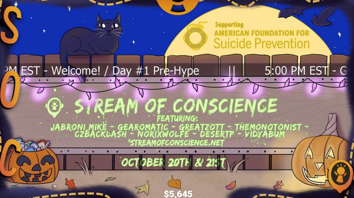 TWELVE MINUTES AND WE ALREADY HIT A SHITLOAD OF INCENTIVES AAAAAAAAH WHATTTTT THANK YOU #charity #SuicidePrevention   http:// twitch.tv/streamofconsci ence &nbsp; …  <br>http://pic.twitter.com/bFgPs04oVI