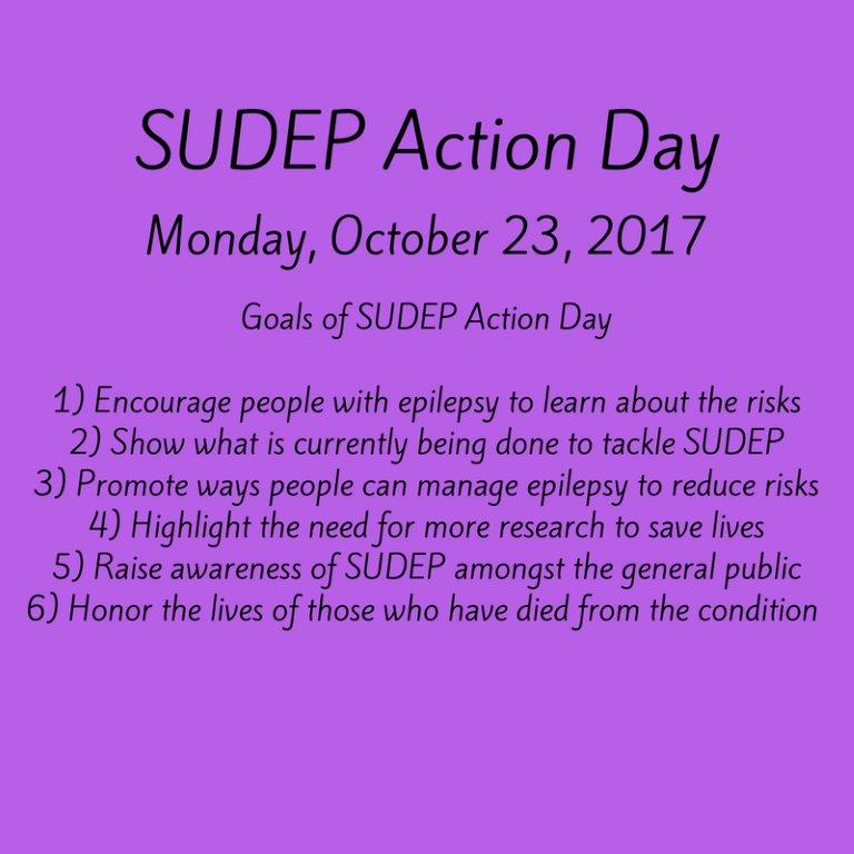 Today is #SUDEPActionDay2017. Learn more about sudden death in #epilepsy &amp; how you can take action:   https:// buff.ly/2yzMyLR  &nbsp;  <br>http://pic.twitter.com/9jFqhkI8i8