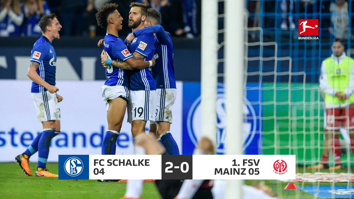 SCHLUSSPFIFF! @s04 schlägt am 9. #Bundesliga-Spieltag den @1FSVMainz05 mit 2:0 - #S04M05 im #Liveticker nachlesen: https://t.co/grxVC7c4Ak