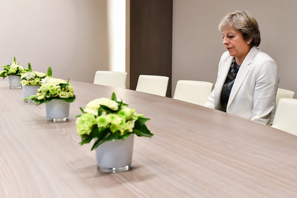 British PM Theresa May's 'lonely' #Brexit photo goes viral  https://t.co/sOOl5Sb0Ln