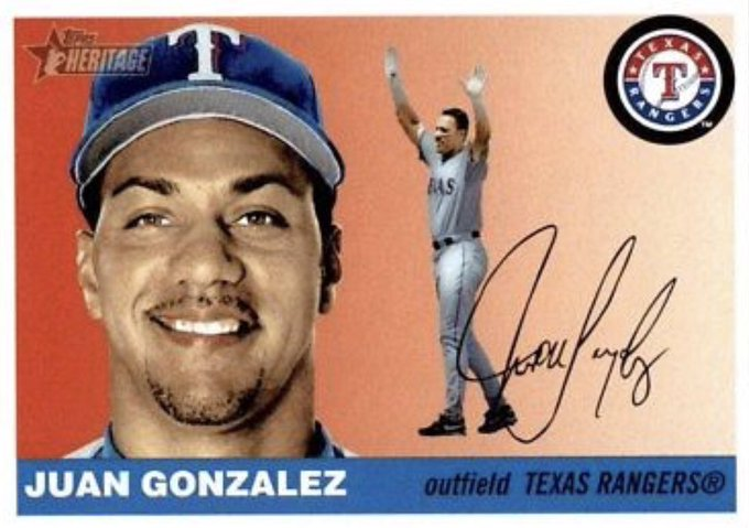 Happy Birthday to two time American League MVP Juan Gonzalez. He hit .286 (6-for-21) with the 2005