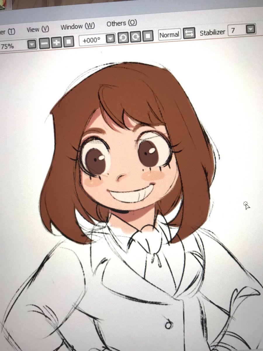 Remade see bio on twitter its a genre of manga for kids its what would also describe my art style hehehehehehe cute round art