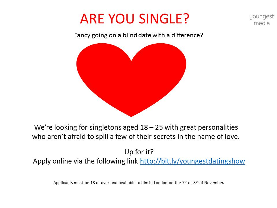 apply for a dating show