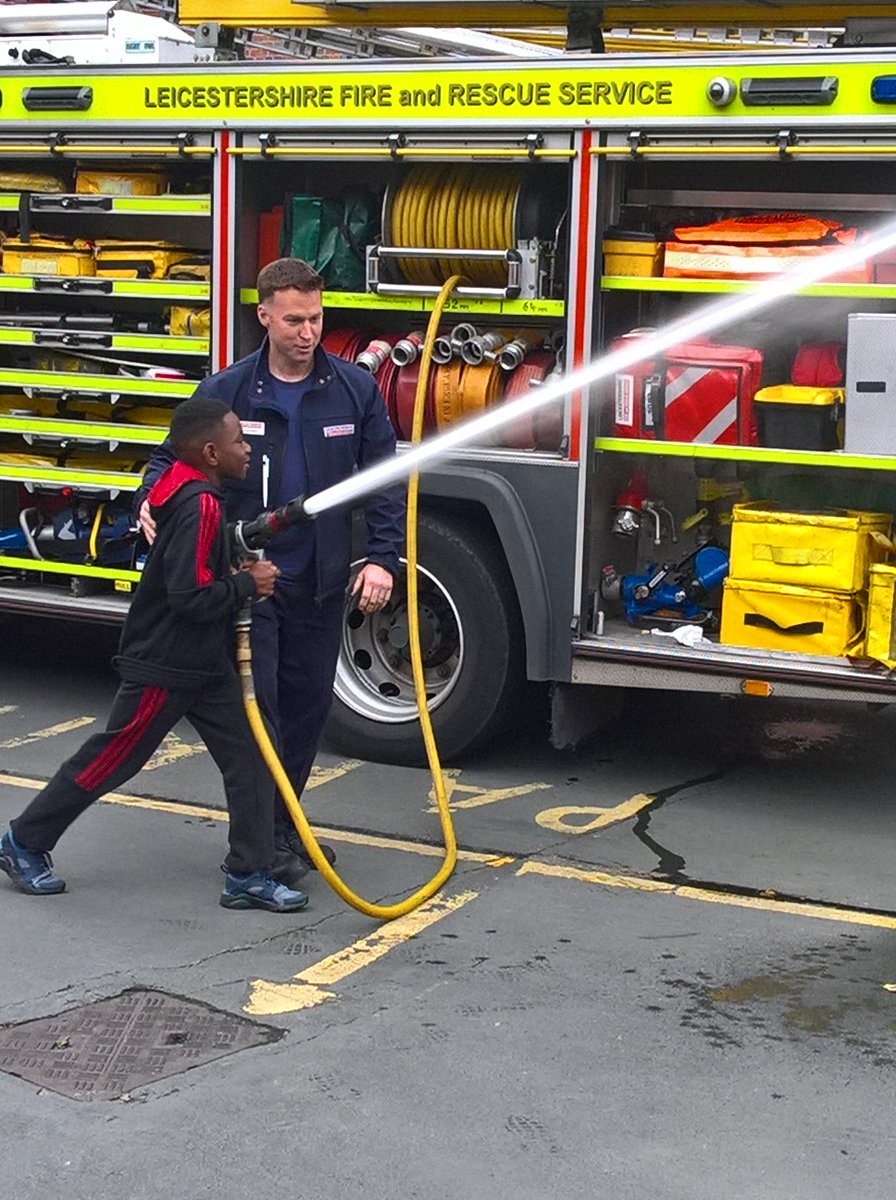 Great day of #engagement with BME youth group  @LeicsFireRescue @LFRSFireControl All kids want to be Firefighters<br>http://pic.twitter.com/JBvViSTAdg