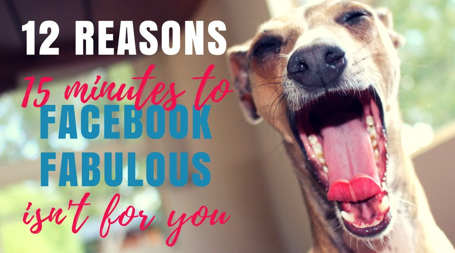 12 Reasons NOT to sign up to my #FacebookMarketing course. No, I haven&#39;t gone barking mad! I said BARKING MAD!  https:// buff.ly/2yBhxFN  &nbsp;  <br>http://pic.twitter.com/FGWGhuvuoO