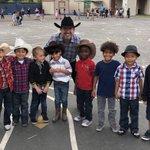#DLI & #Kindergarten students wearing their Country Western year for #FamilyFriday @DrCarlosFPerez1 @AnaheimElem
