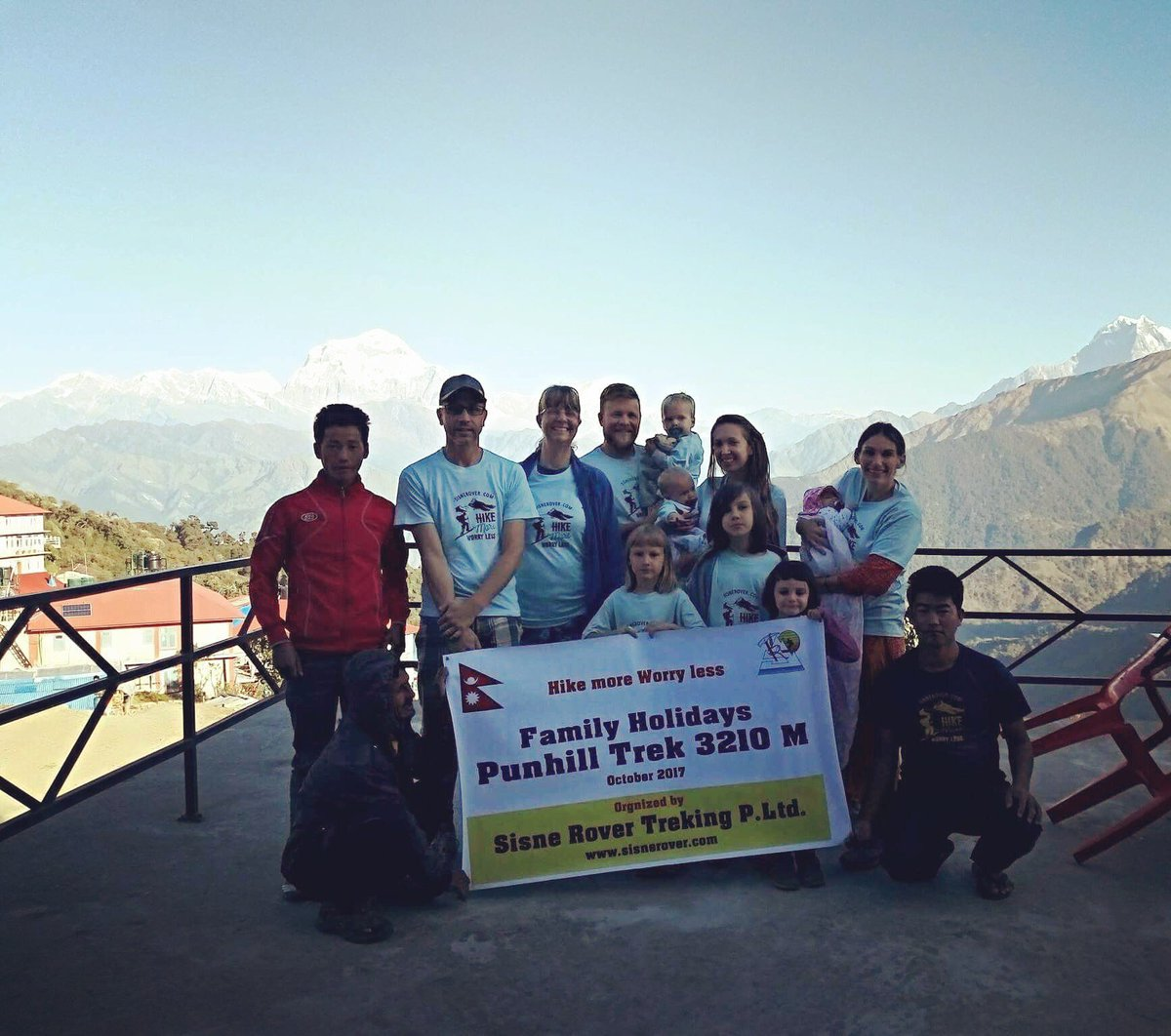 http:// sisnerover.com  &nbsp;   Family Trek to Poonhill (3210m high) #trekking #poonhill #Nepal #family #hiking #babies #sisnerovertrekking #joinus <br>http://pic.twitter.com/Q12xZbFDPU