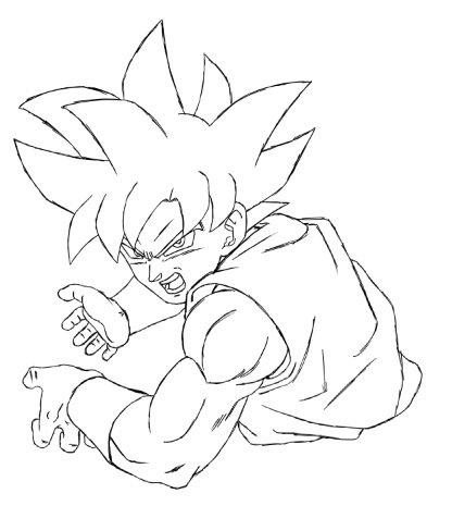 Aashan on twitter goku ultra instinct kamehameha pose in the resurrection f gi sketch - Goku ultra instinct sketch ...