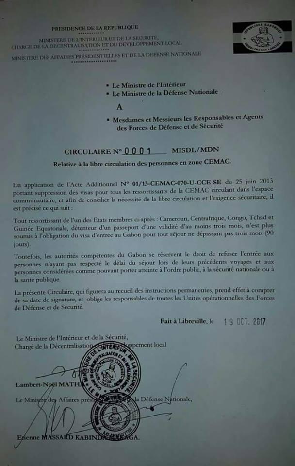 le gabon supprime les visas pour les ressortissants d afrique centrale agence de presse r u00e9gionale
