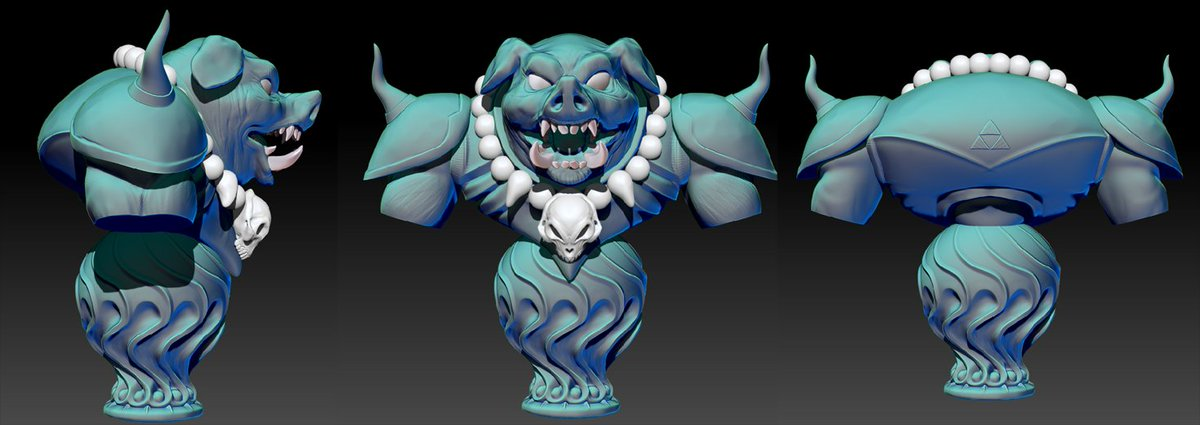 I did a quick birthday sculpt for @tremblinglight of SNES Ganon! A week of lunch breaks well-spent for a great friend #zbrush #zelda #3D<br>http://pic.twitter.com/pt9cPFOIr1
