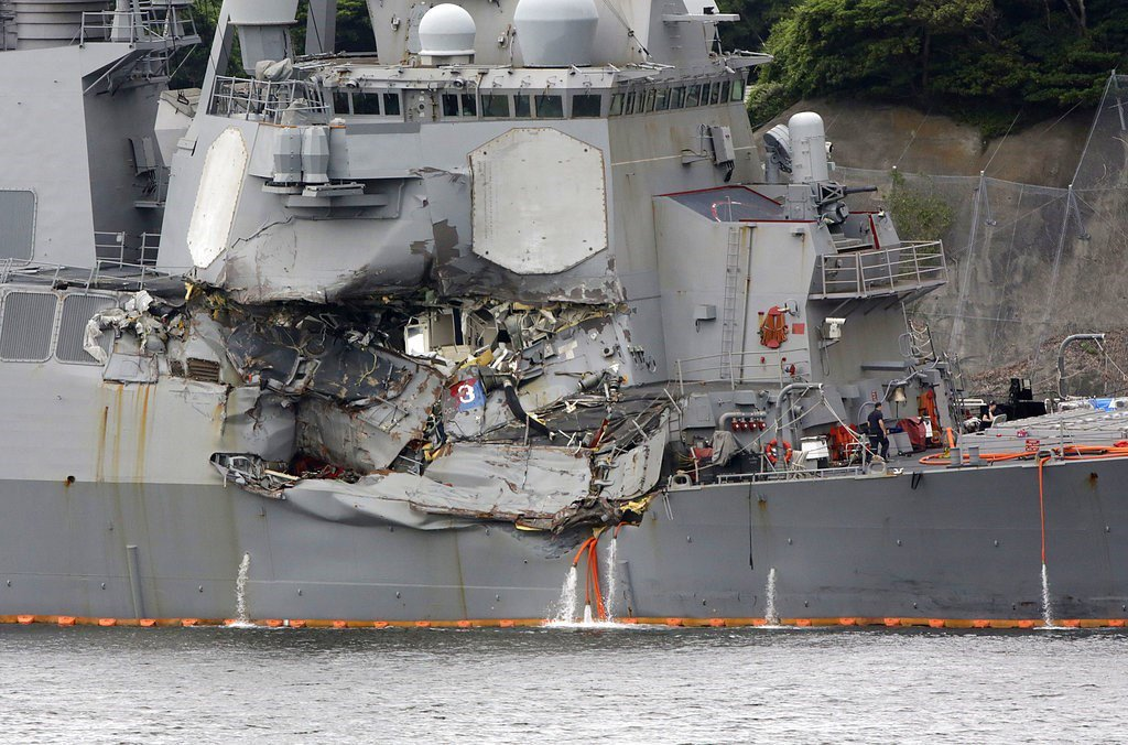 Navy honors 36 sailors for bravery involving the USS Fitzgerald https://t.co/z4DEhRENeA