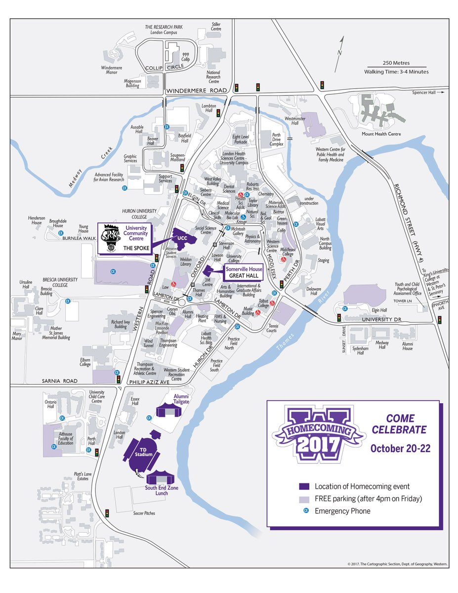university of western ontario campus map Western University On Twitter Map Of Free Parking Options For university of western ontario campus map