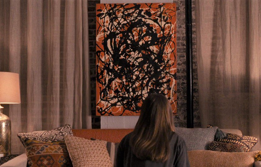 """'Free Form' by #JacksonPollock seen on the set of  #TheAccountant. #BenAffleck #SetDecoration #Art #Abstract #Movies  https://t.co/OfUFV6aRXO… https://t.co/qH6jmM7tqZ"""