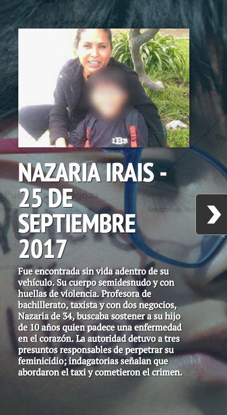 Nazaria y todas las mujeres asesinadas #...