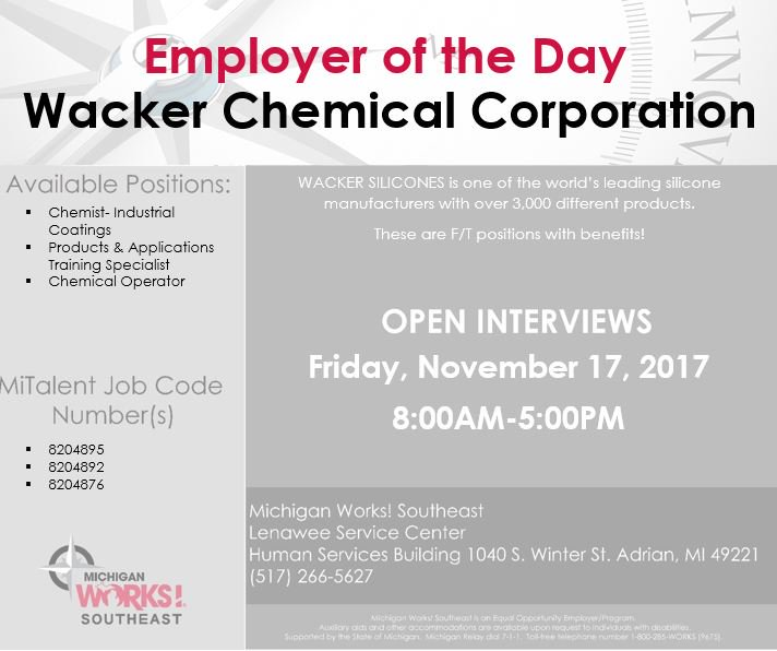 michigan works se on twitter wacker chemical will be in our