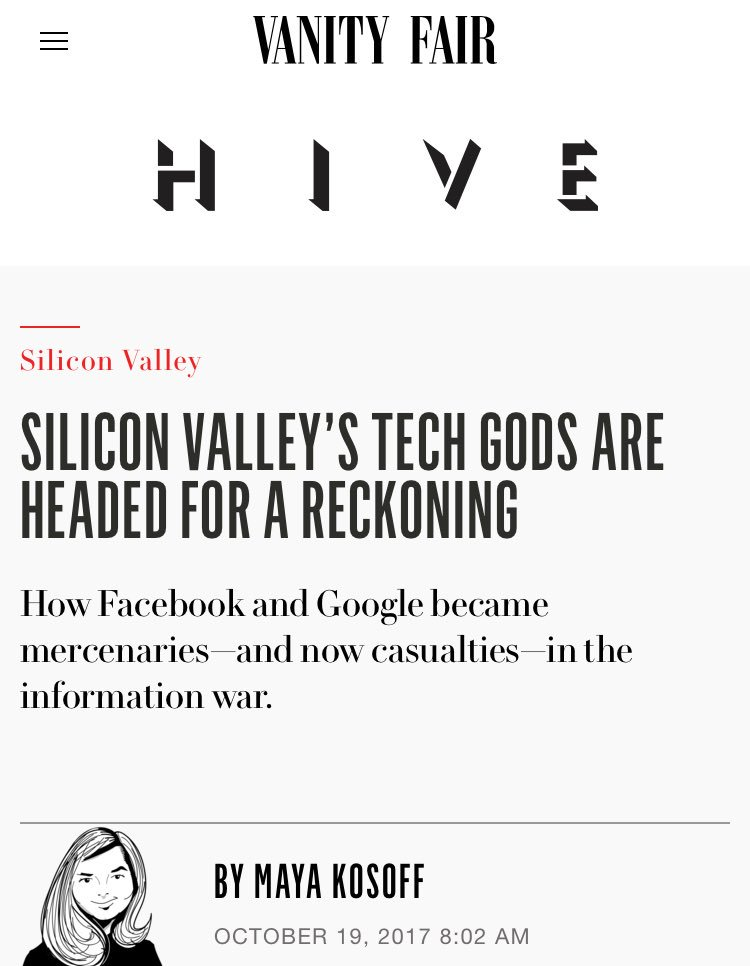 and meanwhile a reckoning for neodoosh juvie$ who have no respect #facemash  #troll$   https://www. vanityfair.com/news/2017/10/s ilicon-valleys-tech-giants-are-headed-for-a-reckoning &nbsp; …   @VanityFair @Tahoesquaw1 <br>http://pic.twitter.com/KV8Pwd63FW