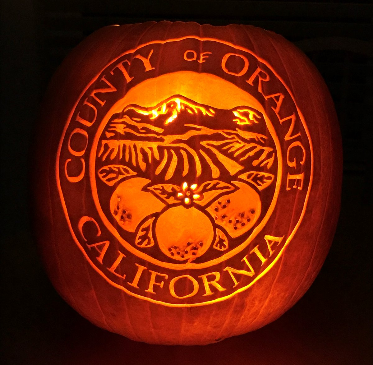 county of orange on twitter great photo of a pumpkin carved by