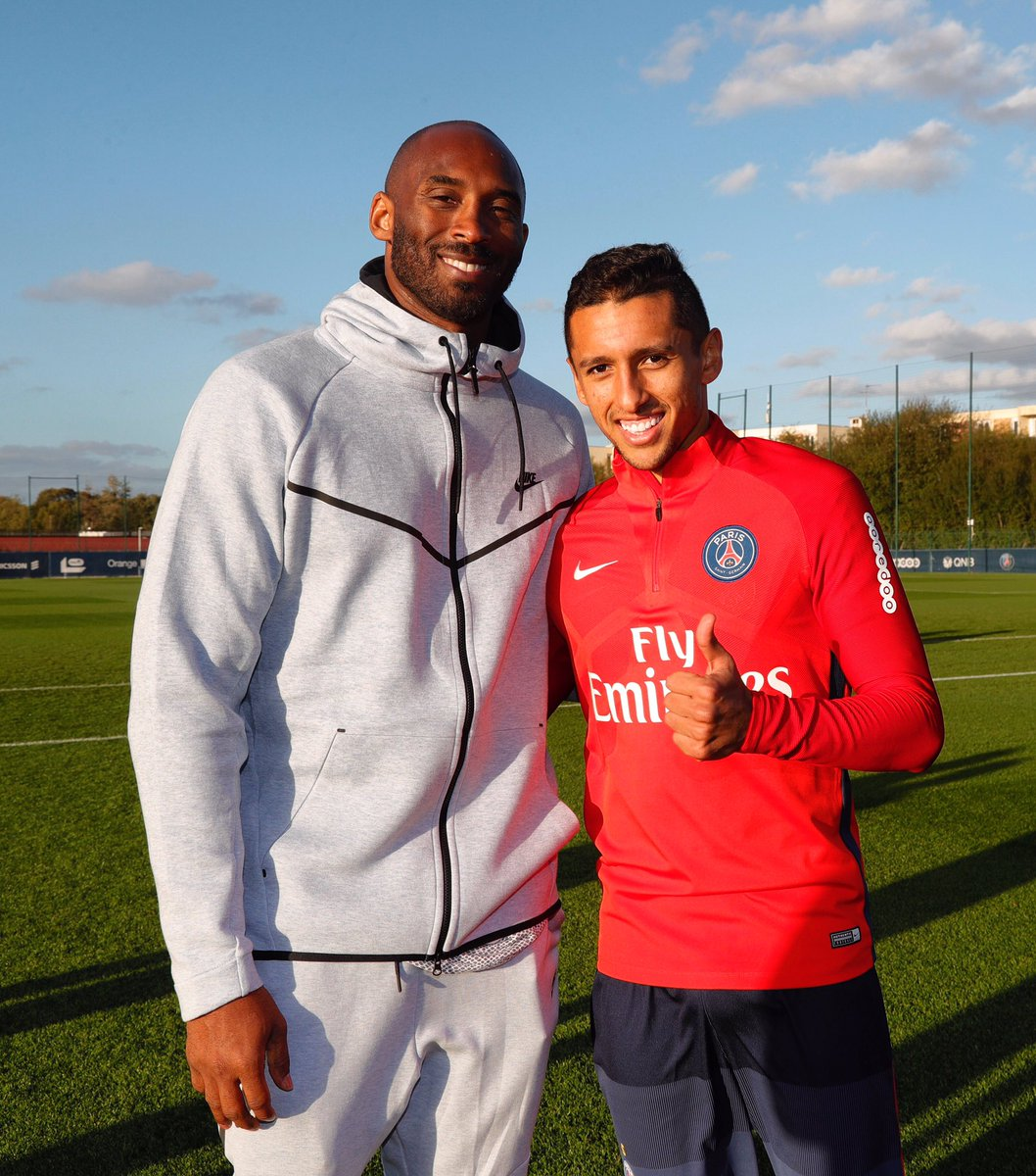 Thank you for the visit today, LEGEND @kobebryant 🏀 #IciCestParis