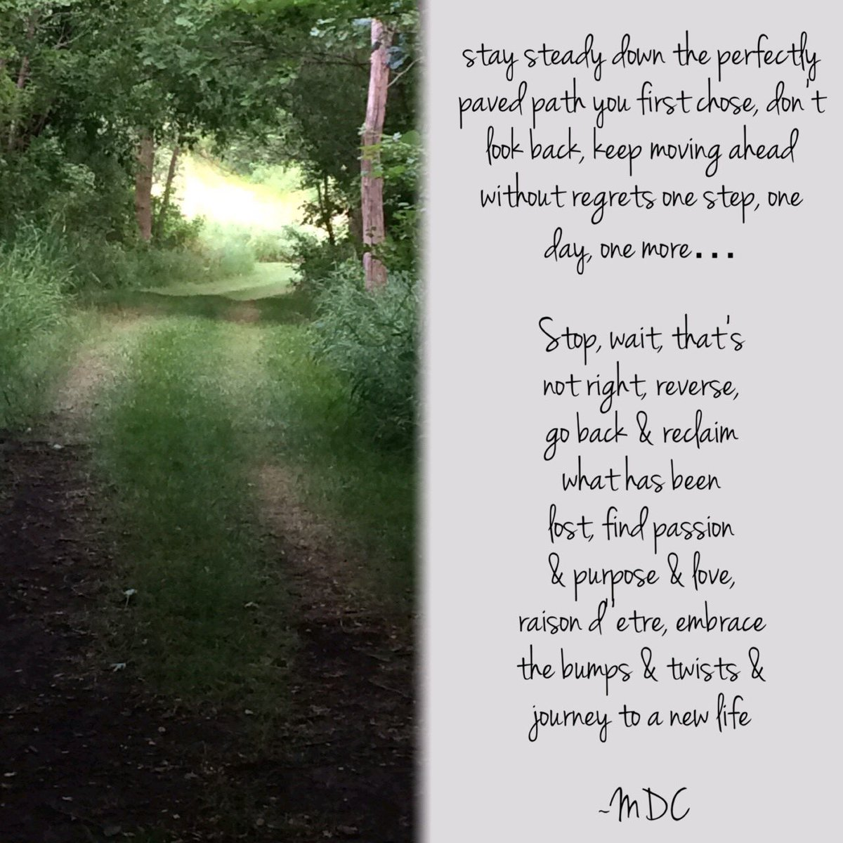 I have been rethinking a lot about the path I am on.  #BentHalos #poem #followyourpassion <br>http://pic.twitter.com/yUT5TS8JeP