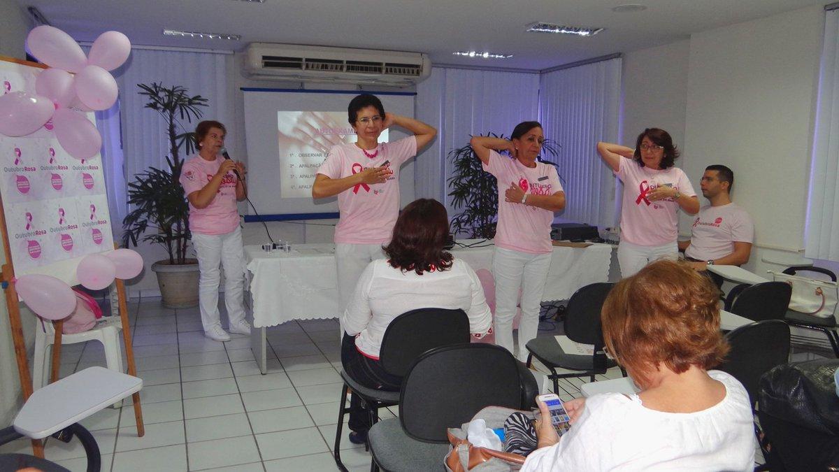 Palestra destaca importância da prevenção do câncer de mama. Confira! https://t.co/ccZCqPKY8V #OutubroRosa