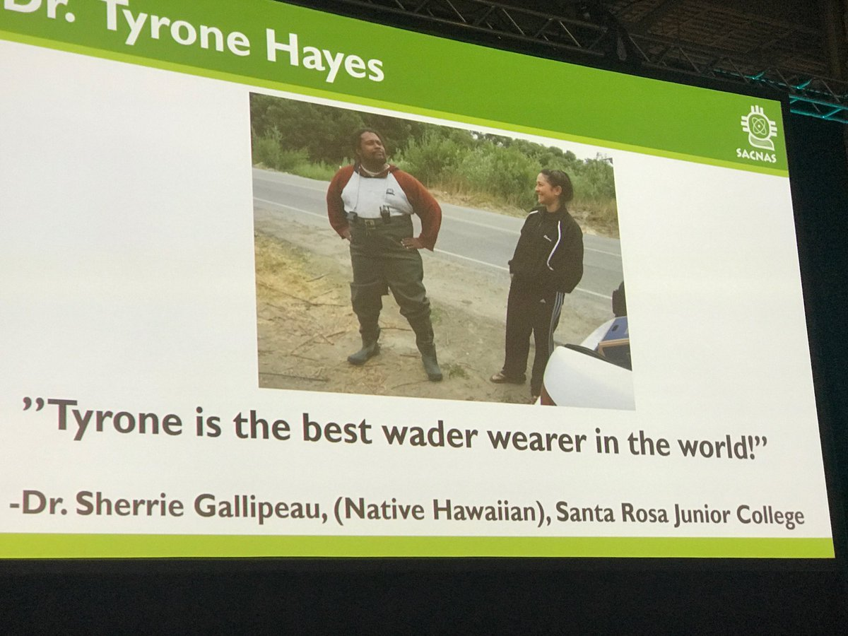 @TyroneHayesFrog is the best wader wearer in the world and #scientist @UCBerkeley @sacnas #SACNAS2017<br>http://pic.twitter.com/ZCJRDvRclo