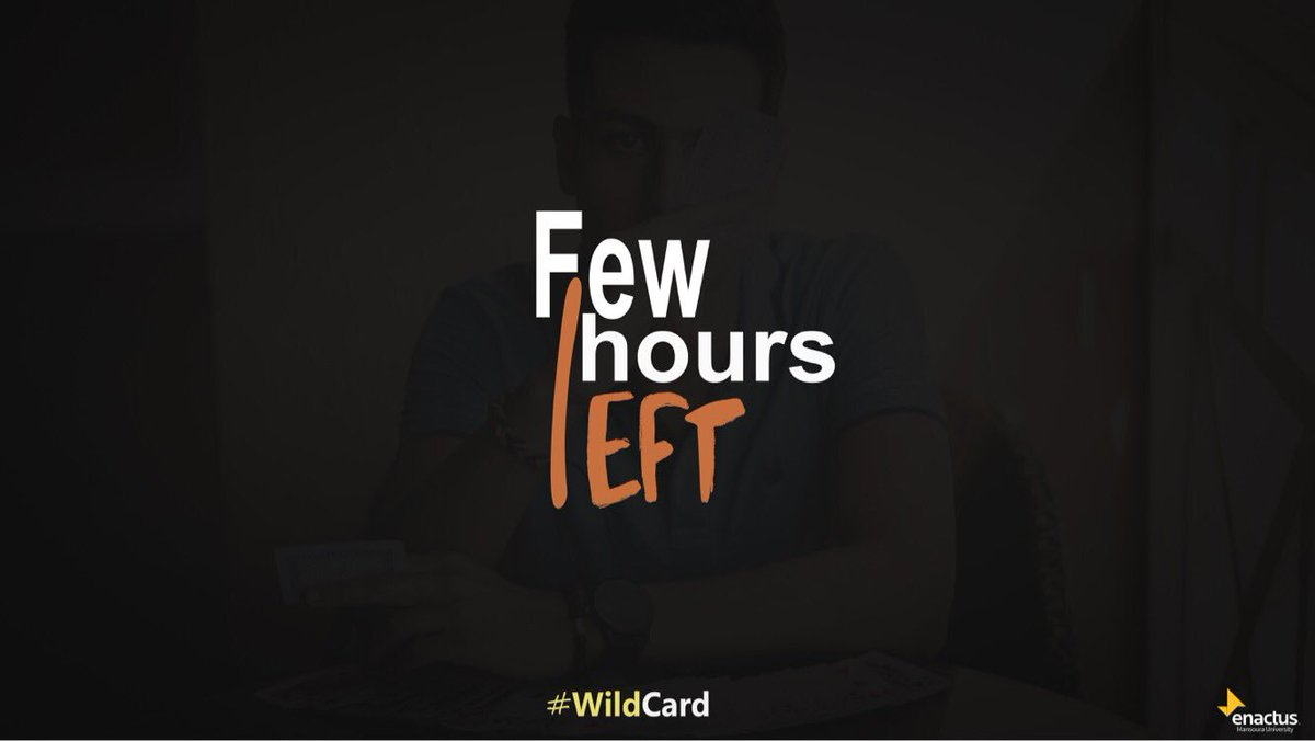 Hurry up and apply!  Check the form here:  http://www. facebook.com/events/2017618 151858567 &nbsp; …   #enactus #enactusmans #entrepreneur #WildCard #Recruitment #business<br>http://pic.twitter.com/nLH2YhXcQp