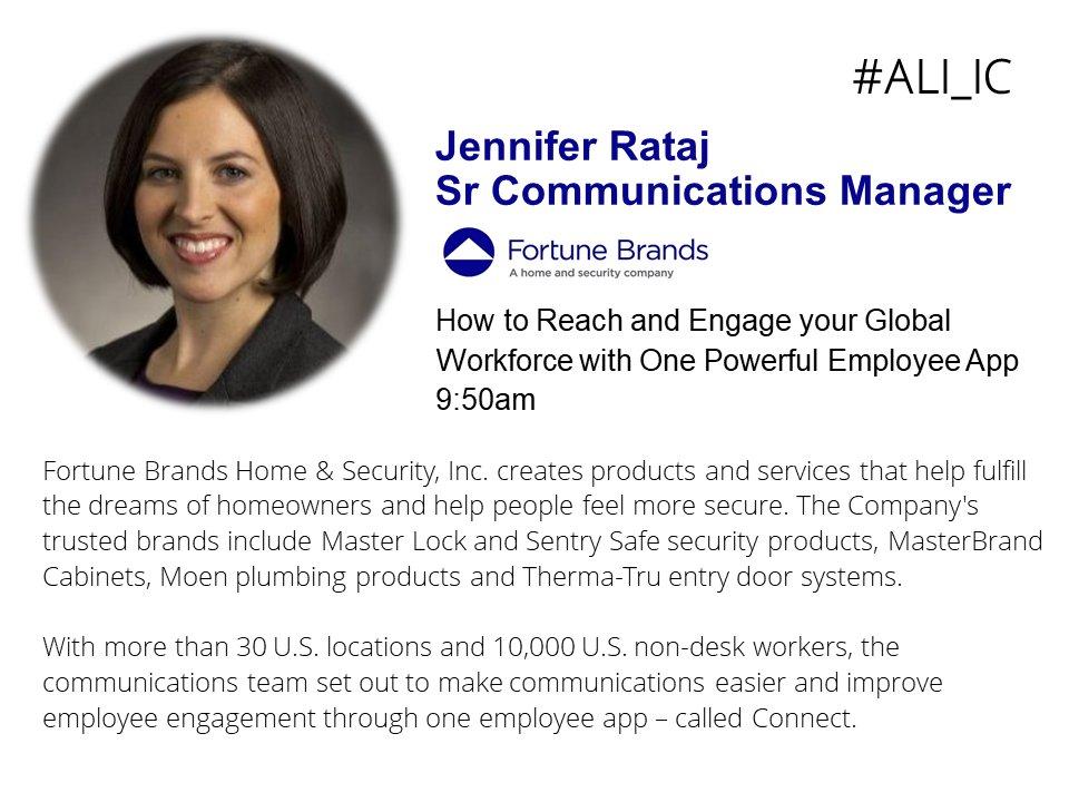 Fortune Brands H S On Twitter Sr Comm Mgr Jen Rataj Shares Key Mobile Communication Learnings At Advanced Learning Insute Internal Communications