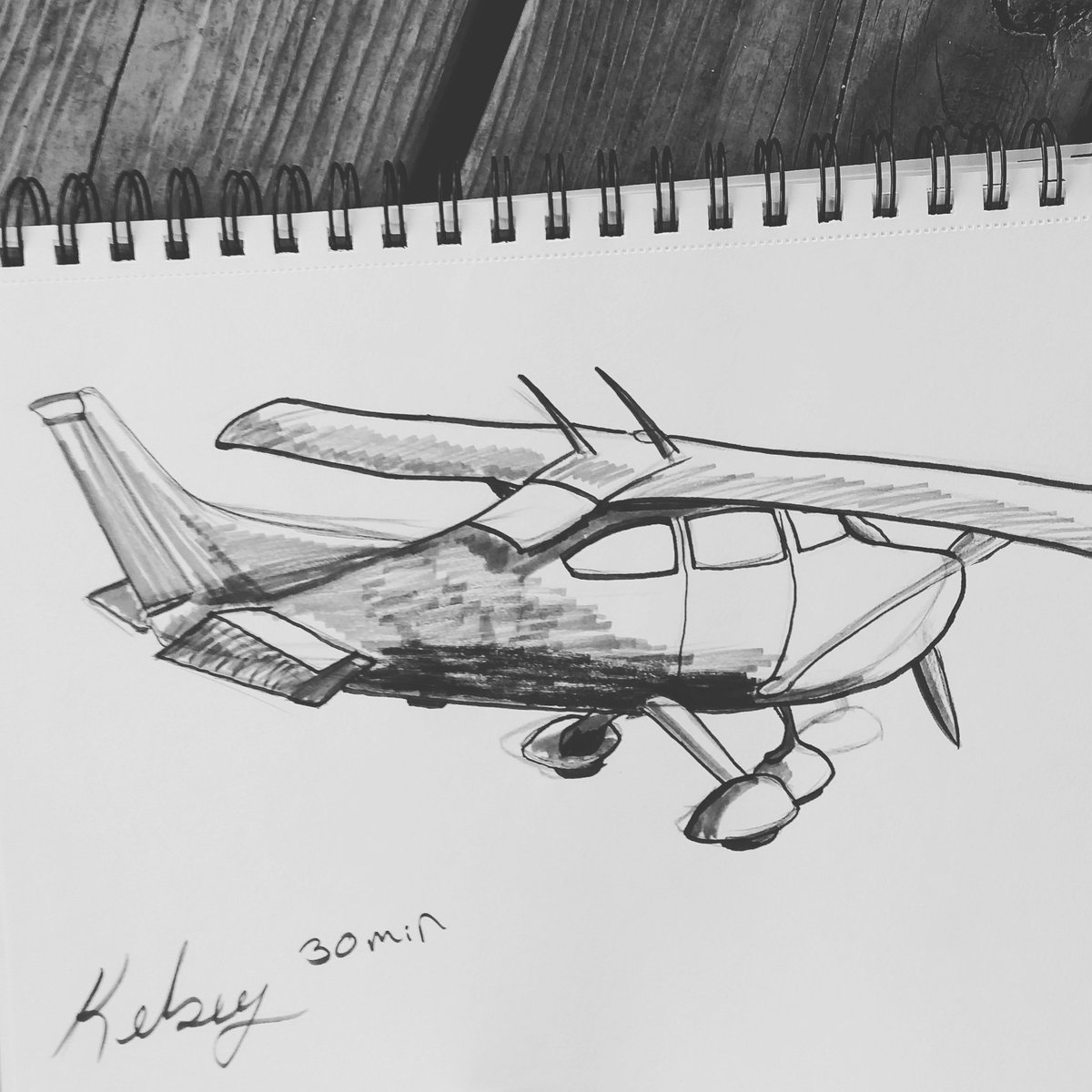 Drawing planes today, this was my nice one and it was cold outside. #myart #lifedrawing #pencildrawing #cessna #FridayFeeling #planes<br>http://pic.twitter.com/OSOCDPGD4a