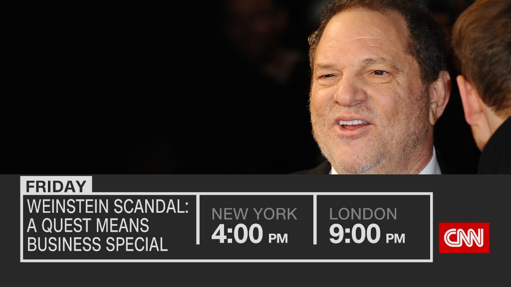 Weinstein scandal: What are industries around the world doing to tackle sexual harassment? Watch @questCNN special on @cnni tonight 4pm ET