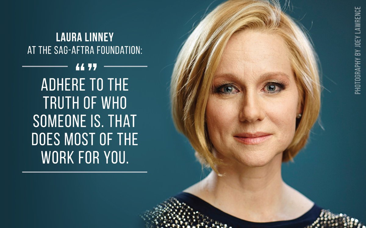 Four-time #Emmys winner #LauraLinney shares her advice on #acting during her Foundation #Conversations Q&amp;A in December 2012. #fbf<br>http://pic.twitter.com/mvOLium2Oh