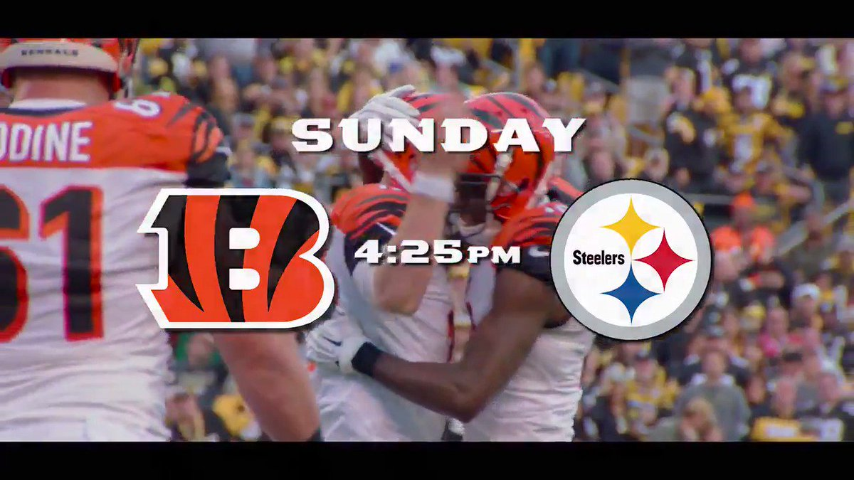 AFC North rivalry. #CINvsPIT #Bengals50  10/22 - CBS - 4:25 pm ET http...