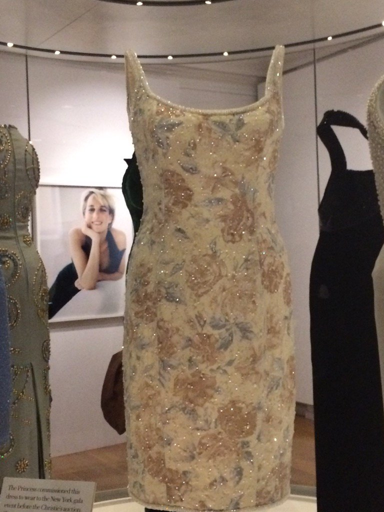 Kensington Palace exhibit of Diana's dresses is heartbreaking. But love the way staff talk about 'her boys' #princes