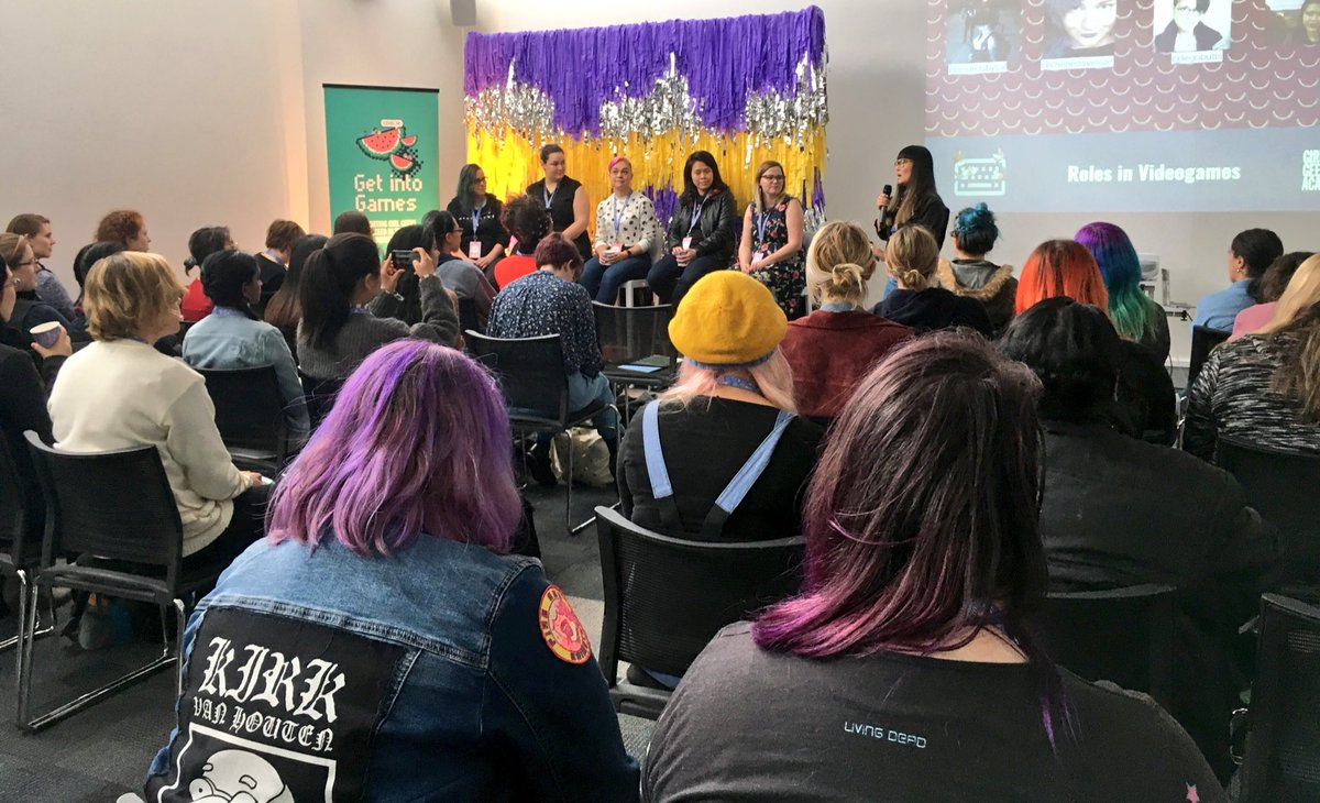 #shemakesgames brought together these amazing women with the biggest array of #gamedev #talent telling us their #journey in #Games <br>http://pic.twitter.com/ga6GR226JM
