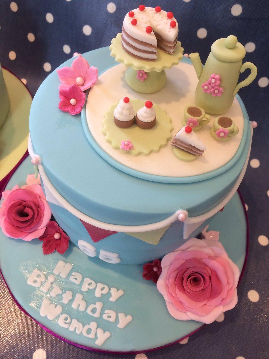 Estherscakekitchen On Twitter Afternoon Tea Themed Cakes Both 6