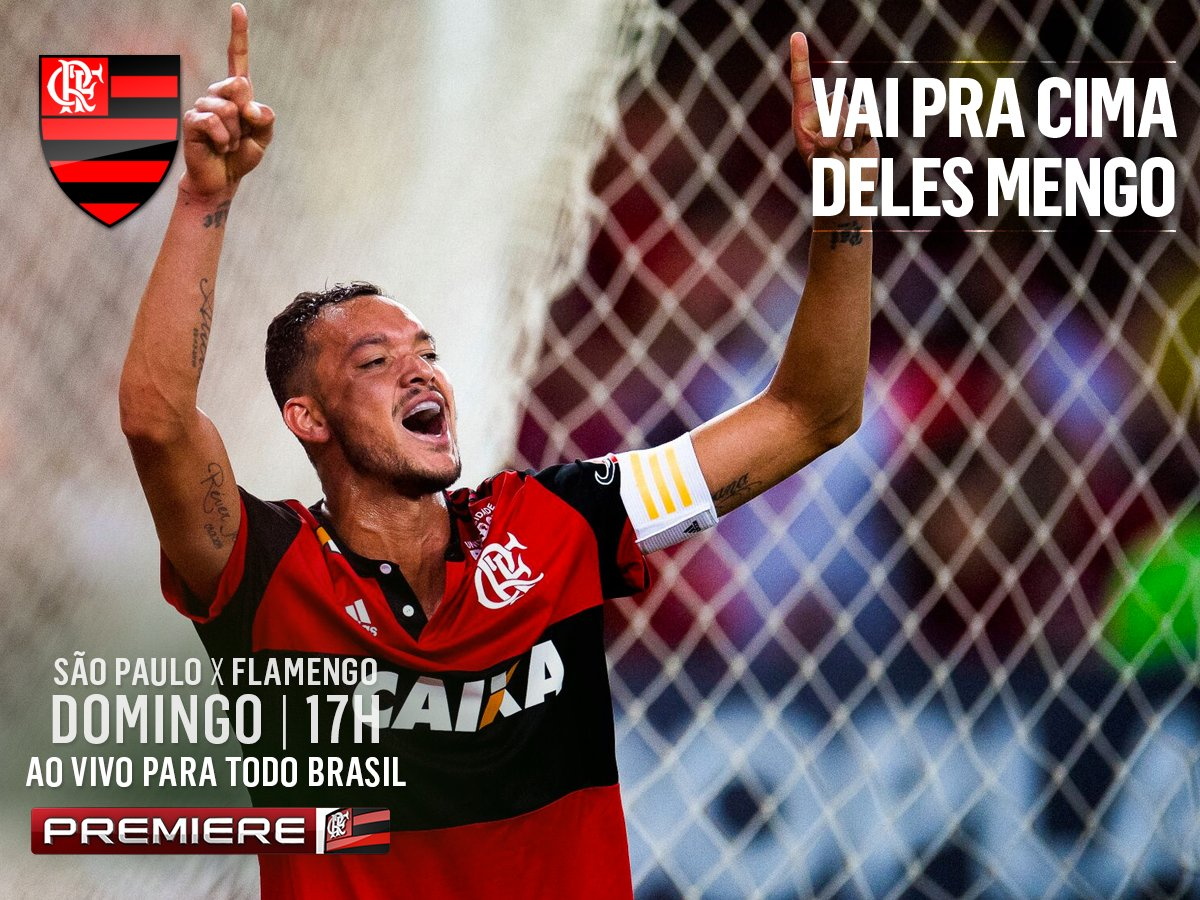 Flamengo x São Paulo, neste domingo, terá transmissão do @canalpremier...